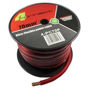 4CONNECT 4-PC70P rol 18 meter stroomkabel rood 70mm2