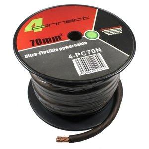 4CONNECT 4-PC70N rol 18 meter stroomkabel zwart/bruin