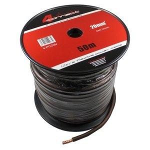 4CONNECT 4-PC20N rol 50 meter stroomkabel zwart/bruin