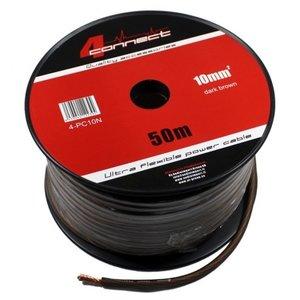 4CONNECT 4-PC10N rol 50 meter stroomkabel zwart/bruin 10mm2